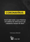 Relatório de ações Coronavírus - (FASE 1)
